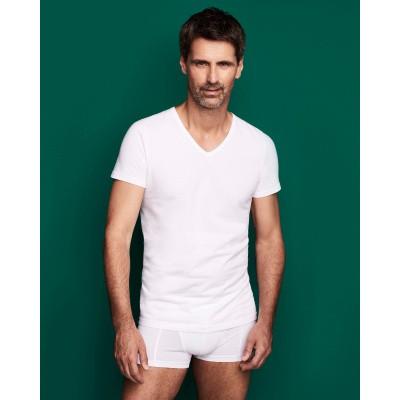 Afbeelding van Ten Cate Men BAMBOO T- shirt met V-hals 30862 Wit
