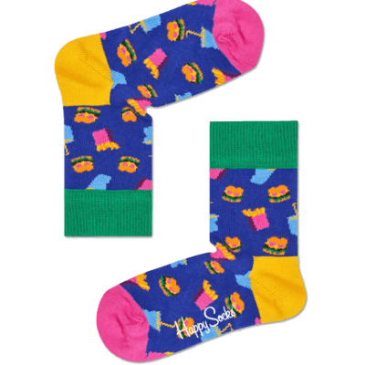 Foto van Happy socks kinderen Hamburger Sock KHAM01-6000