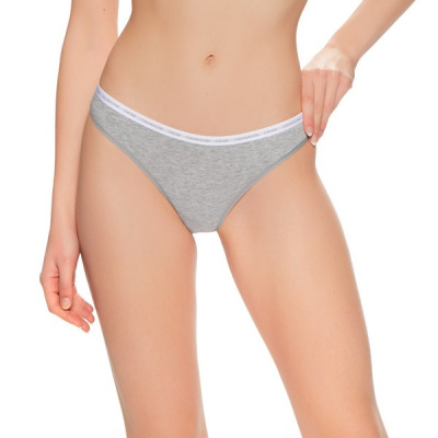 Foto van Calvin Klein dames string ONE 2-PACK 000QD3788E GREY HEATHER