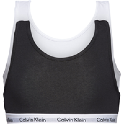 Foto van Calvin Klein Modern Cotton Girls 2-Pack Bralette BLACK/WHITE G80G897000 NOS
