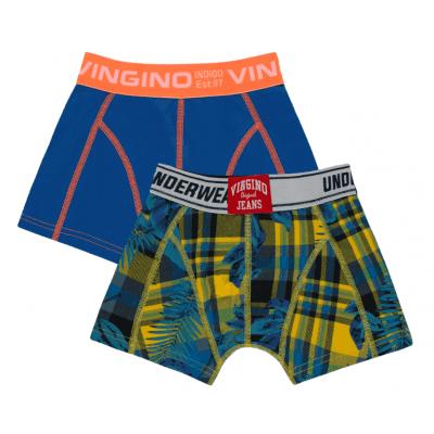 Foto van Vingino 2-Pack jongens boxershort CHECKED AW19KBN72508 101