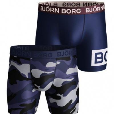 Foto van Bjorn Borg Heren boxer 2-Pack PERFORMANCE PEACEFUL & BOR microfiber 2031-1369 70011