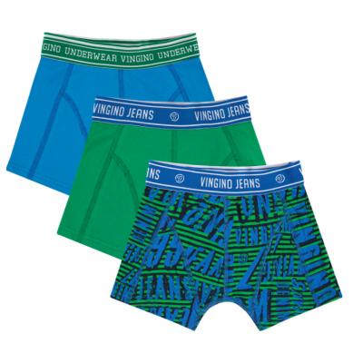 Foto van Vingino 3-Pack jongens boxershort CAPRI BLUE AW20KBN72506 101