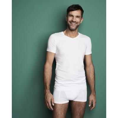 Foto van Ten Cate Men BAMBOO T- shirt met ronde hals 30860 Wit
