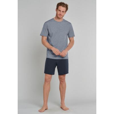 Foto van Schiesser Heren pyjama korte mouw, korte broek Donker blauw 171407 803
