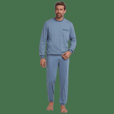 Foto van Schiesser Pyjama Lange broek / lange mouw Blauw 165441-824