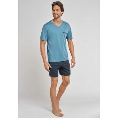 Foto van Schiesser heren pyjama korte mouw, korte broek 161678 817