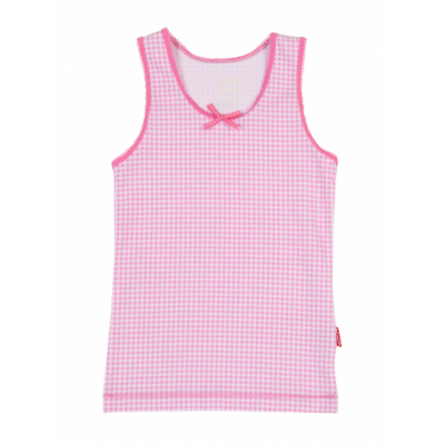 Foto van Claesens's Girls Singlet PINK CHECKS CL852