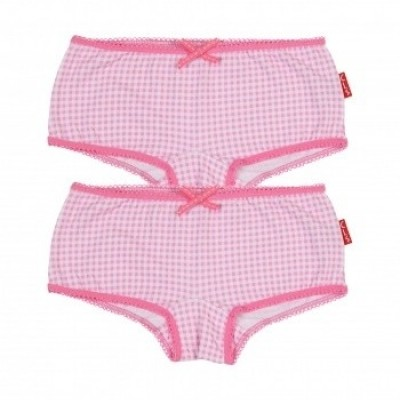 Foto van Claesens's Girls 2-Pack Hipboxer PINK CHECKS CL939