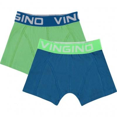 Foto van Vingino 2-Pack Jongens boxershort SOLID POOL BLUE SS19KBN72503 143