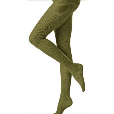 Foto van Oroblu Fashion Panty 70 Denier MICRO LINES Grijs/Olive VOBC65687