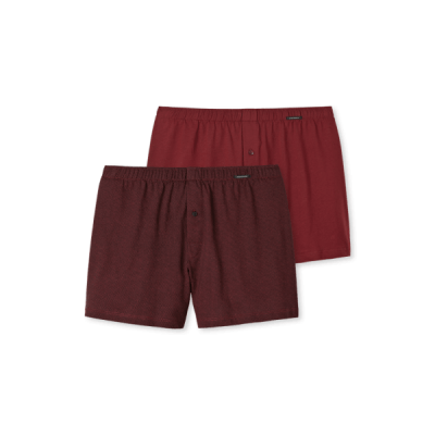 Foto van Schiesser Heren Geweven Boxer 2-Pack BORDEAUX 154789