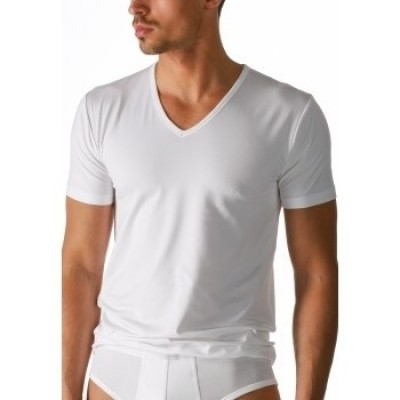 Foto van Mey Dry Cotton V-Neck T-Shirt WHITE 46007