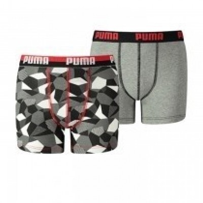 Foto van Puma 2 Pack Boxer Boys HIGH RISK RED 575003001