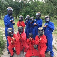 Outdoor paintball kinderfeestje