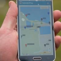 Smartphone spoorzoeken-spel