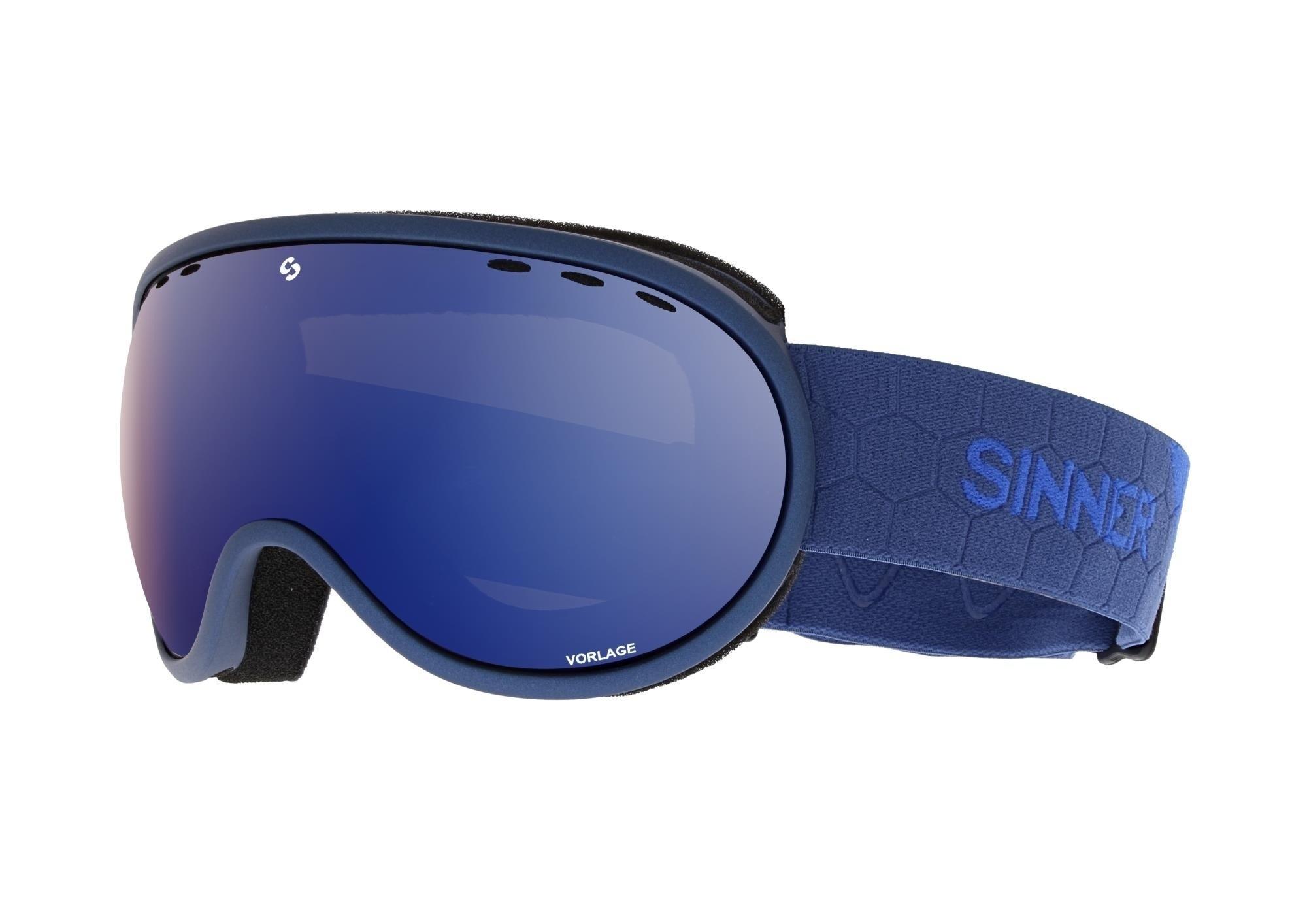 Skibril Sinner Vorlage metalic blue