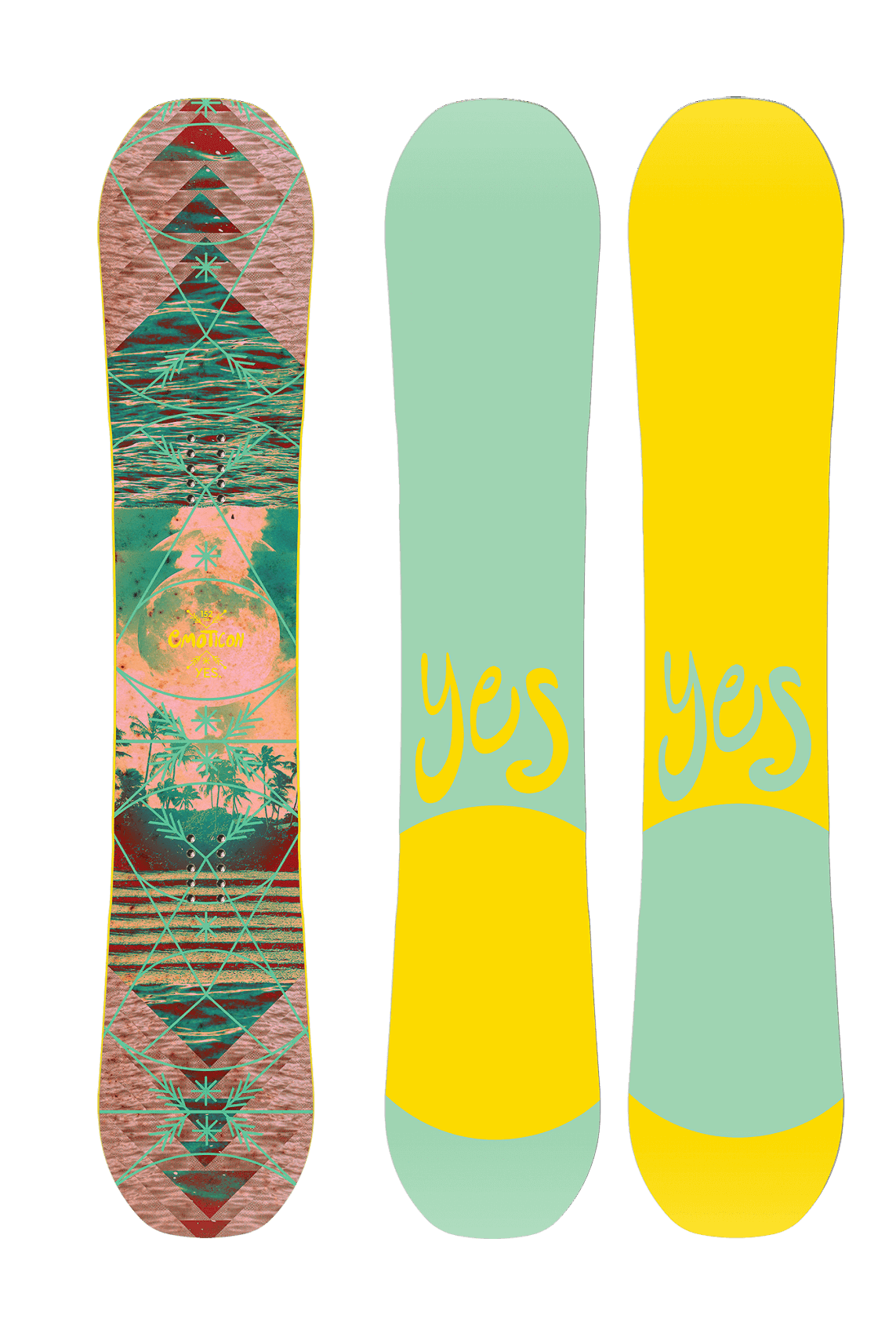 Yes dames snowboard Emoticon 2020