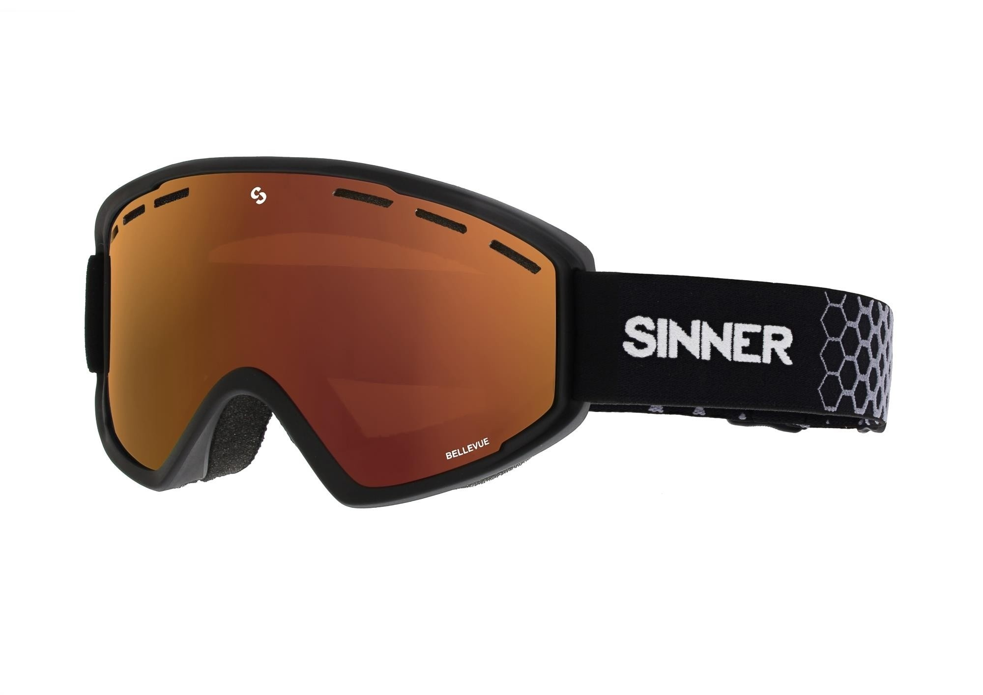 Sinner Goggle Lakeridge mat zwart