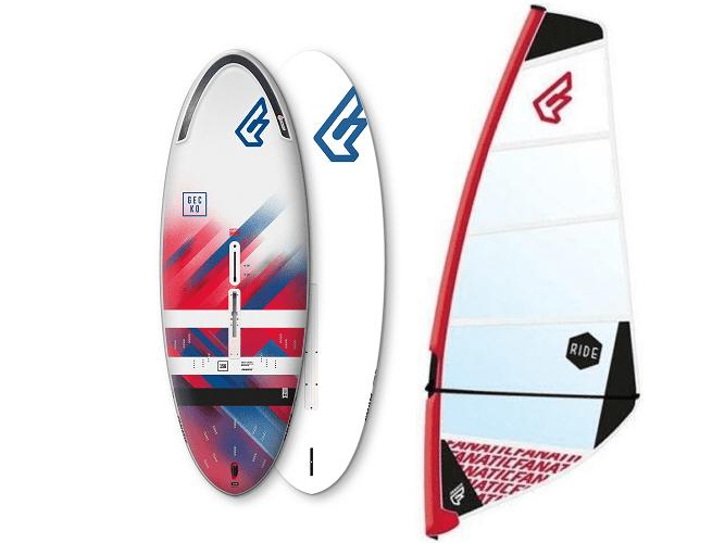 Fanatic beginners windsurfset Gecko Dagger Board met Tuigage