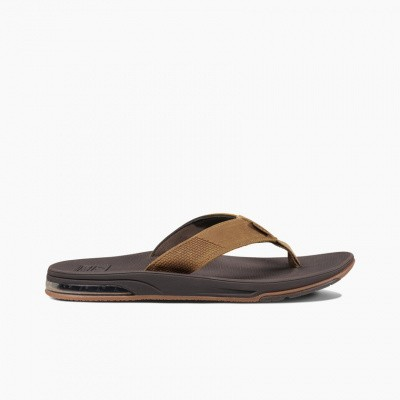 Foto van Reef heren slipper Leather Fanning Low