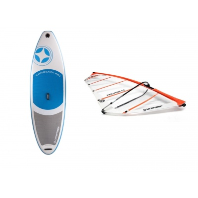 Foto van Opblaasbaar windsurfboard met compleet tuigage