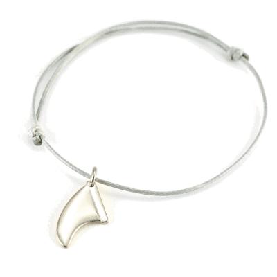 Foto van Zilveren surfvin armband/halsketting