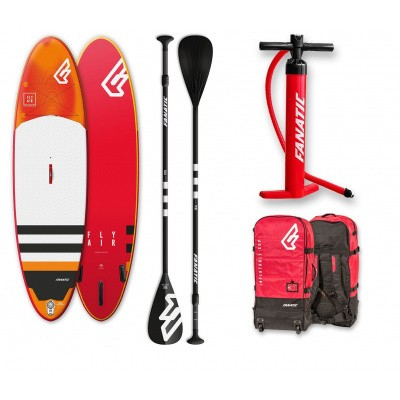 Foto van Fanatic Wind/Sup Fly Air Inflatable Premium met paddle