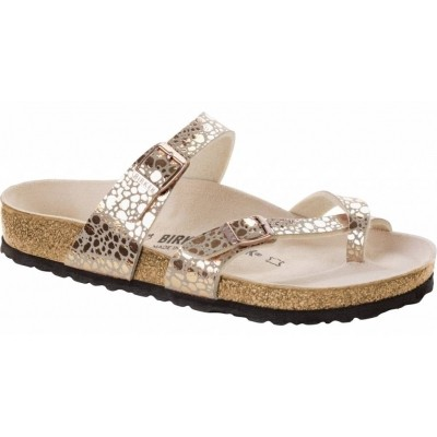 Foto van Birkenstock dames slipper Mayari metallic copper