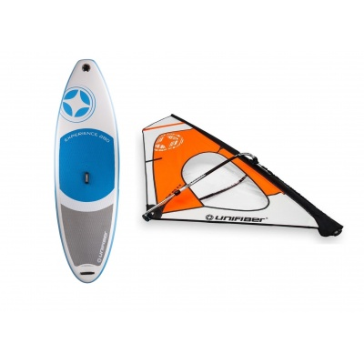 Foto van Beginners opblaasbaar Windsurfboard+Tuigage