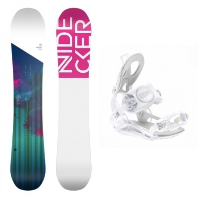 Foto van Complete snowboardset Angel+SP private bindingen