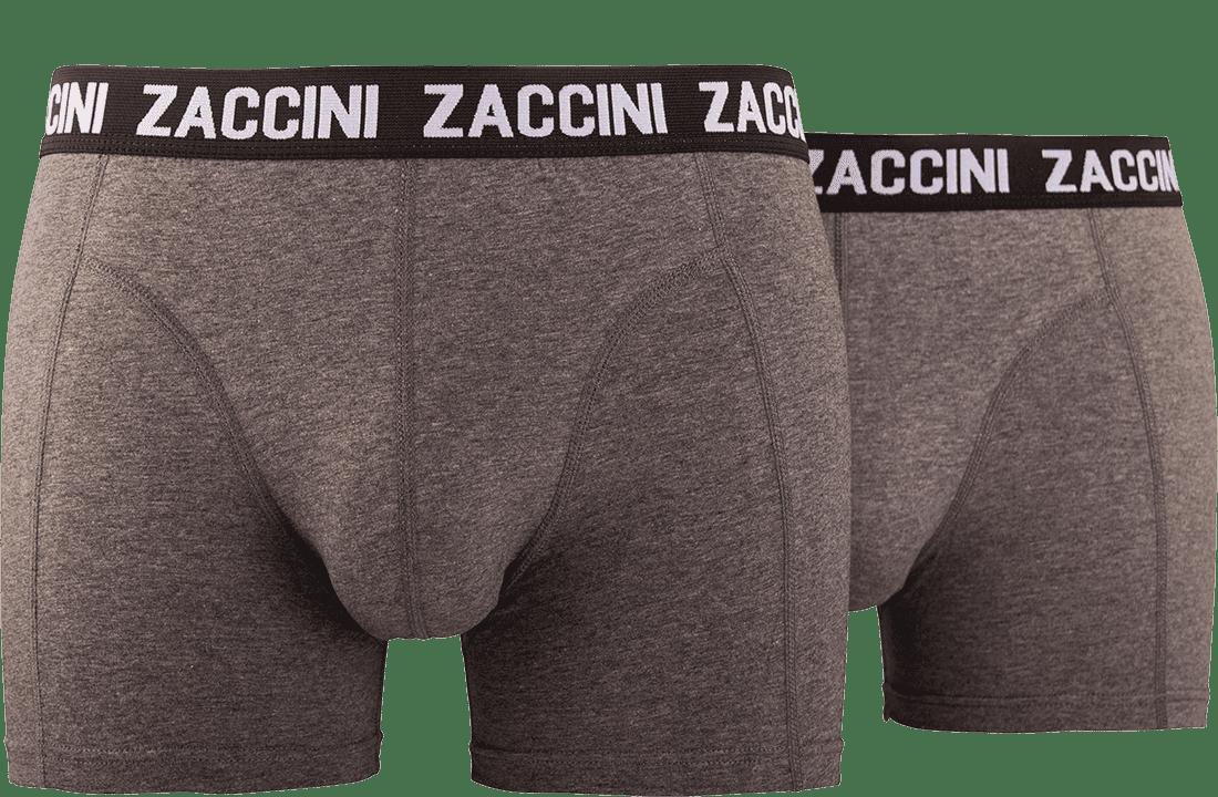 Zaccini heren ondergoed 2 pack grijs