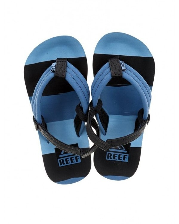 Reef jongens slipper Ahi blue multi line