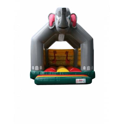 Foto van Luchtkussen / springkussen olifant 5 x 5,5 x 4,4 meter. incl blower