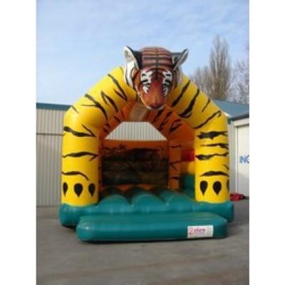 Foto van Luchtkussen / springkussen tijger 5 x 5,5 x 4,4 meter