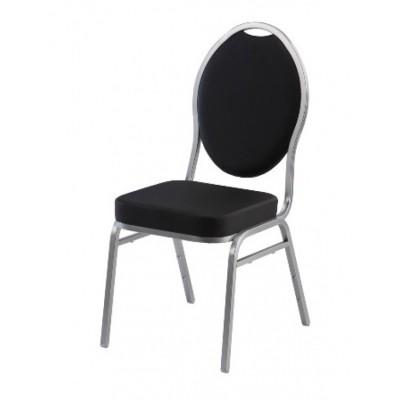 Foto van Gestoffeerde stoel zwart, Diamond