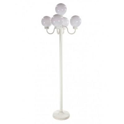Foto van Parijse lantaarnpaal wit met bollen 220 cm