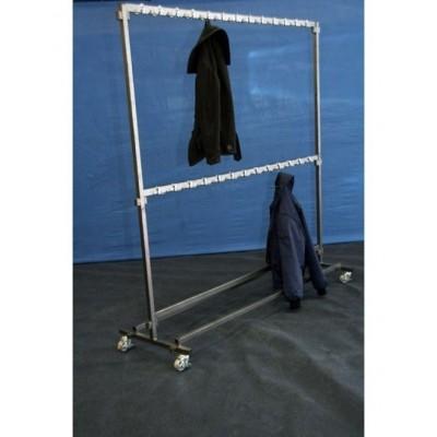 Foto van Garderobe stander met vast haken voor 100 jassen