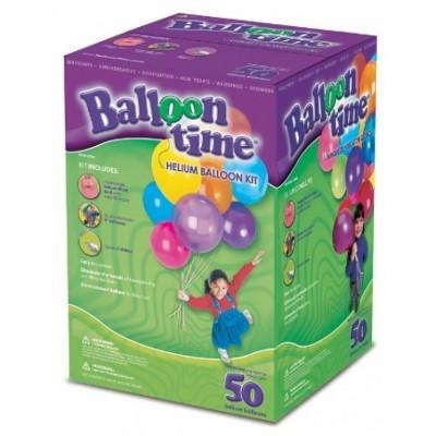 Foto van Heliumfles incl. 50 ballonnen + lint