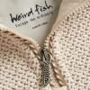 Afbeelding van Weird Fish geranium 1/4 zip classic macaroni sweatshirt ecru