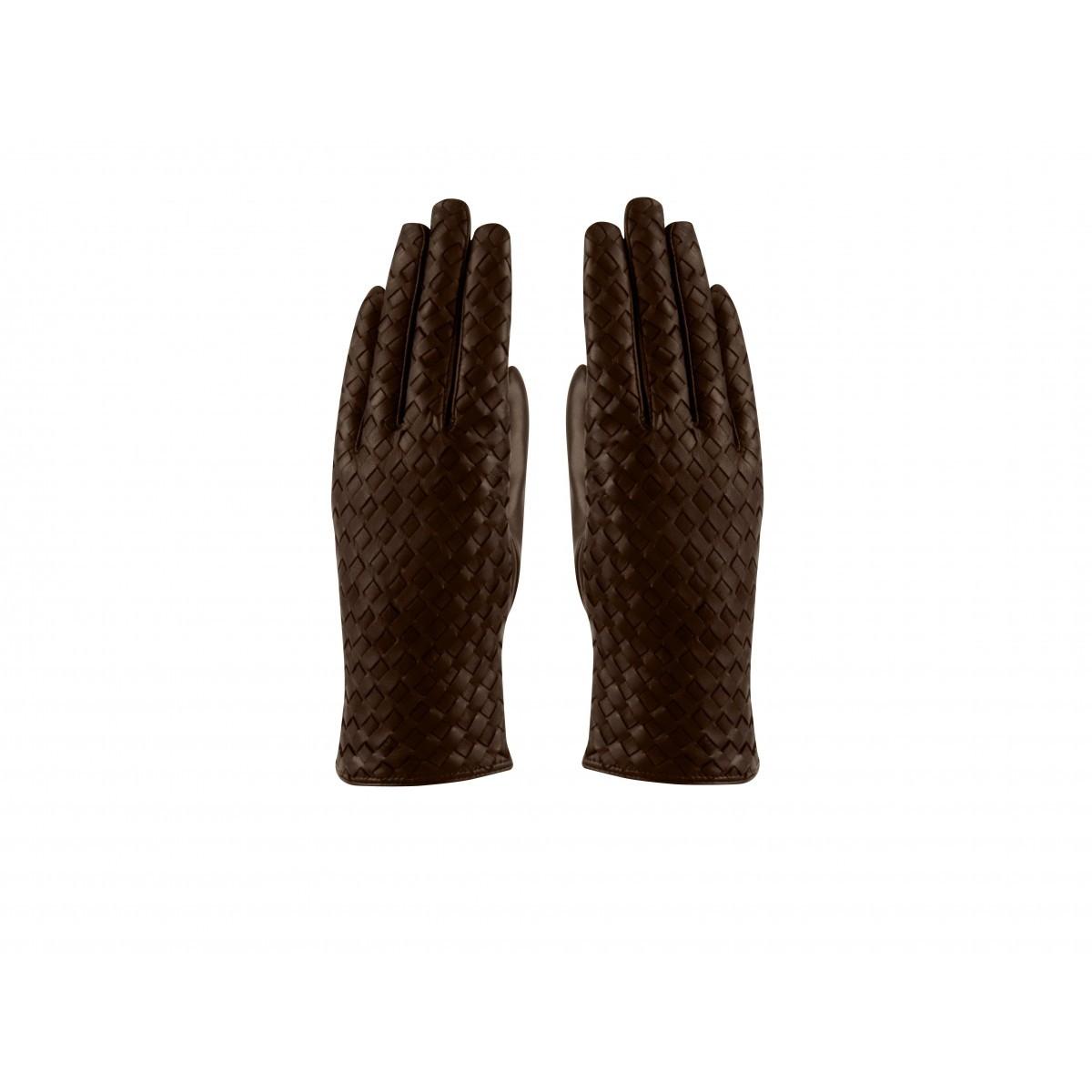 Foto van Hatland Tesla Braided Leather handschoen