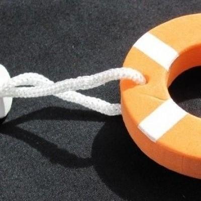 Drijvende sleutelhanger reddingsboei
