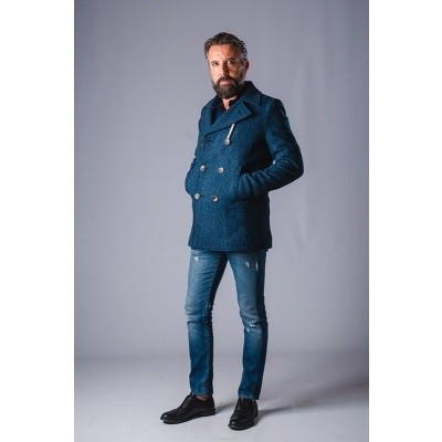 Camplin Island Peacoat Harris Tweed