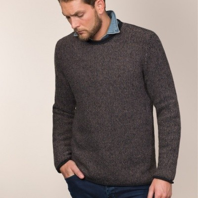 Fisherman out of Ireland Seed Stitch Roll Neck