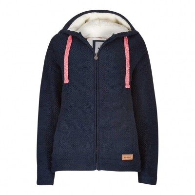 Weird Fish Full Zip Big Mac Hoody Navy