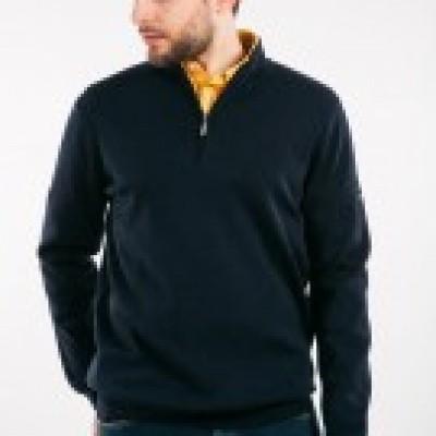 Saint James Crossley High-necked zippered sweater