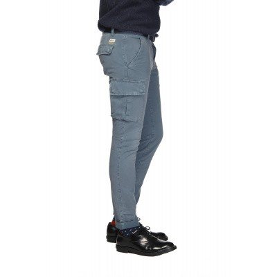 Foto van Mason's man cargo pants model Chile Blauw