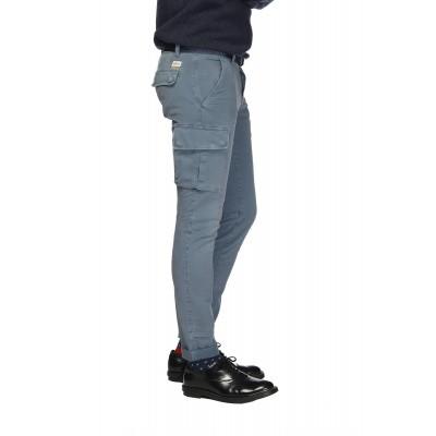 Mason's man cargo pants model Chile Blauw