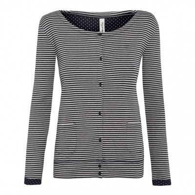 Foto van Weird Fish weatherly spots and stripes cardigan navy