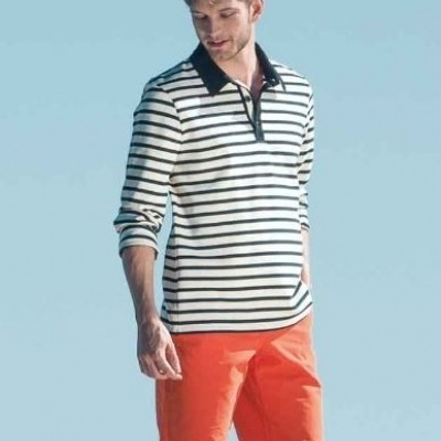 Saint James Pessac lange mouw polo